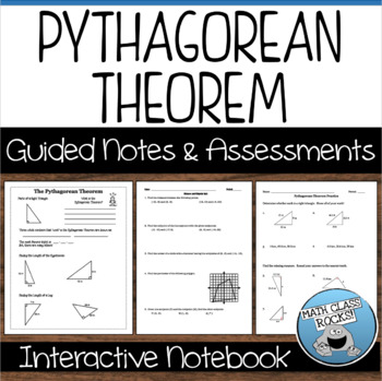 Pythagorean Theorem (Distance and Midpoint) Notes and Assessments