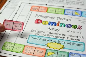 Pythagorean Theorem Dominoes Activity