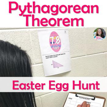 Pythagorean Theorem Easter Egg Hunt (Scavenger Hunt) Activity