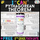 8th Grade Pythagorean Theorem Game 8th Grade Math Review {