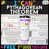 8th Grade Pythagorean Theorem Game FREE | I CAN Math Games