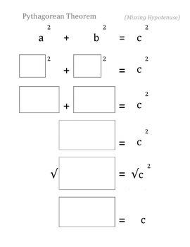 Pythagorean Theorem Equation Support