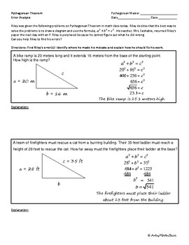 Pythagorean Theorem Error Analysis