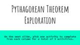 Pythagorean Theorem Exploration