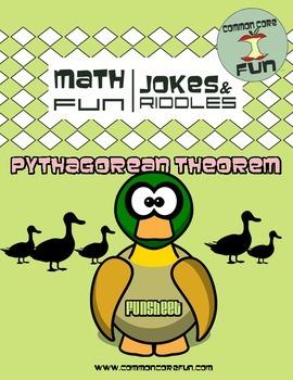 Pythagorean Theorem FUN worksheet