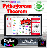 Pythagorean Theorem Famous Mathematician Puzzle with GOOGLE Slides™