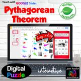 Pythagorean Theorem Digital Puzzle with GOOGLE Slides™