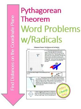 Pythagorean Theorem Find Distances on Coord Plane w/Radicals DIFFERENTIATED