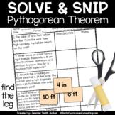 Pythagorean Theorem Find the Leg Word Problems |  Solve an