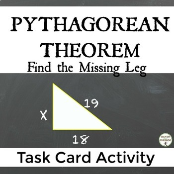 Pythagorean Theorem Find the missing leg of a triangle Tas