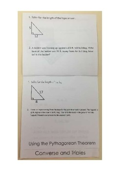 Pythagorean Theorem Flippable