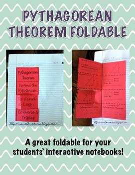 Pythagorean Theorem Foldable