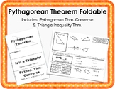 Pythagorean Theorem Foldable Notes