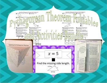Pythagorean Theorem Foldables plus Activities Bundle SOL(2016) 8.9