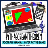 Pythagorean Theorem: Football Mania PowerPoint Game