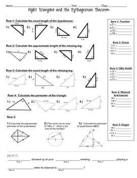 Pythagorean Theorem ~ Fun Activity