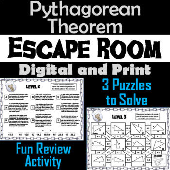 Pythagorean Theorem Game: Geometry Escape Room - Math