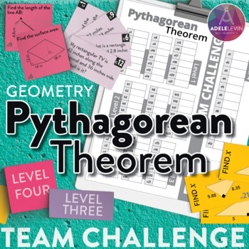 Pythagorean Theorem (Geometry: TEAM CHALLENGE task cards)