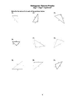 Pythagorean Theorem Graduated Practice
