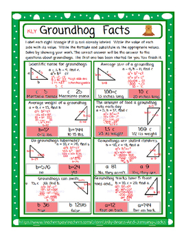 Pythagorean Theorem -Groundhog Facts