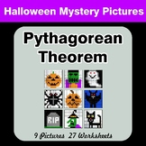 Pythagorean Theorem - Halloween Mystery Pictures / Color By Number