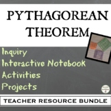 Pythagorean Theorem Bundle for PreAlgebra or Geometry