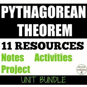 Pythagorean Theorem Bundle for PreAlgebra or Geometry