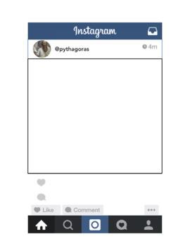Pythagorean Theorem Instagram Project