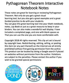 Pythagorean Theorem Interactive Notebook Notes