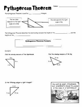 Pythagorean Theorem Intro Notes