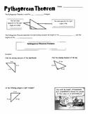 Pythagorean Theorem Intro Notes