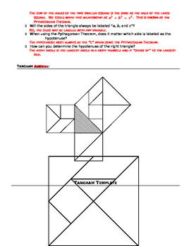 Pythagorean Theorem Introduction Activity