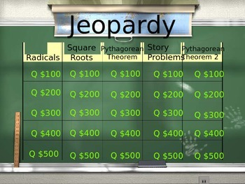 Pythagorean Theorem Jeopardy