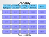 Pythagorean Theorem Jeopardy
