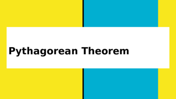 Pythagorean Theorem Lesson