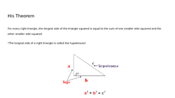 Pythagorean Theorem Lesson