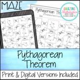 Pythagorean Theorem Worksheet - Maze Activity