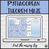 Pythagorean Theorem Maze - Digital Distance Learning Activity