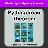 Pythagorean Theorem - Middle Ages Mystery Pictures / Color By Number