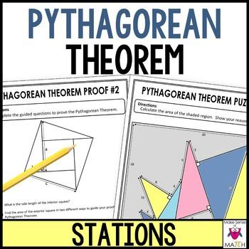 Pythagorean Theorem Middle School Math Stations