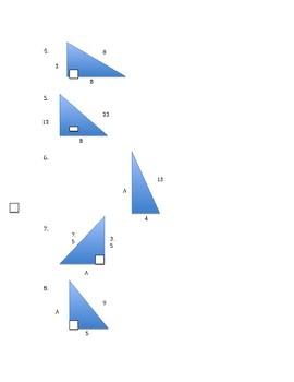 Pythagorean Theorem Mini Review/Homework