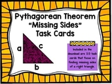 "Pythagorean Theorem ""Missing Sides"" Task Card Activity"