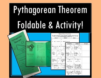 Pythagorean Theorem - Notes AND Partner Activity!
