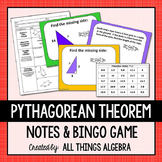 Pythagorean Theorem Notes and Bingo
