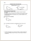 Pythagorean Theorem Notes: Finding A Missing Side Notes