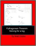 Pythagorean Theorem Notes/Practice (solve for leg)