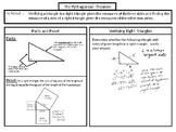 Pythagorean Theorem Notes SOL 8.9ab