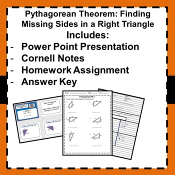 Pythagorean Theorem Notes and Homework - 8.G.7