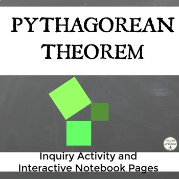 Pythagorean Theorem Inquiry Activity and Interactive Notebook Foldable
