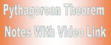 Pythagorean Theorem Notes with Video Link